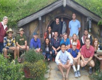 Students in Hobbiton